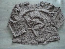 3046 Longbluse/Kleid braun, hinten Knopfleiste von VERTBAUDET Gr. 86