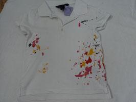 F-214 Polo Shirt weiß mit Farbtupfer von RALPH LAUREN Gr. 117-123