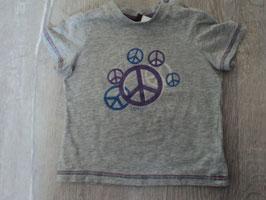 2197 Shirt grau mit Peace Zeichen von ESPRIT Gr. 80
