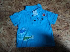 AL-39 Shirt -hellblau mit Tiere-Kragen-Brusttasche von BOBOLI Gr. 74
