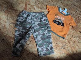 L-31 Sommerset Shirt mit Truck orange /khaki- Jogger in camouflage von BUSTER BROWN Gr. 68/74