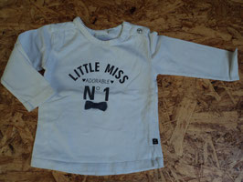 640 LA Shirt weiß mit angenähter Fliege Little miss NO 1 von FEETJE Gr. 74