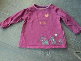 V-125 LA Shirt pink mit Elefantenfamilie Mum+Dad=Me von S'OLIVER Gr. 62
