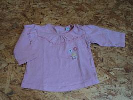 SR-172 LA Shirt in rosa mit Blümchen applis und Schleife von BOB DER BÄR Gr. 56