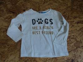 SR-46 LA Shirt in weiß mit Aufschrift' Dogs are a Girl's best friend von JBC Gr. 92