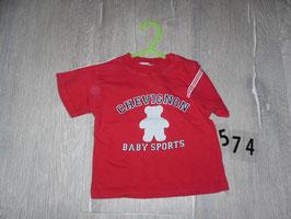 574 Shirt rot mit Bär von CHEVIGNON Gr. 74