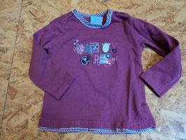 SR-3 LA Shirt beere Pretty Girl mit Glitzersteine von BONDIGr. 86