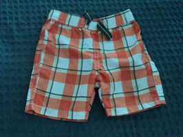 M-100 Kurze karrierte Shorts in orange weiß grün von BABY CLUB Gr. 74