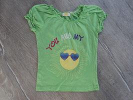 SS-79 Shirt -knalliges grün mit Sonne von KIDS Gr. 110/116