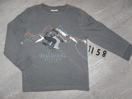 1158 LA Shirt Snowboarder grau Gr. 122