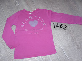 1462 LA Shirt pink Herz von BENETTON Gr. 100