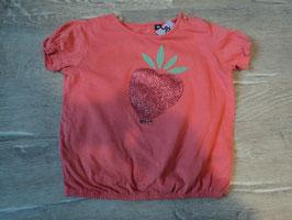 3115 Shirt in pastell pink mit Glitzer Erdbeere und unten Gummizug Bündchen von TOM TAILOR Gr. 80