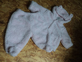 V-40 Winterset Jacke rosa mit Kapuze und Ohren-passende Hose mit Fuß-Kuschelig von BABY GAP Gr. Ab 50-62