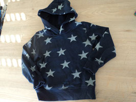 Y-57 Kapuzenpulli dunkelblau mit hellblauen Sternen von H&M Gr. 98/104