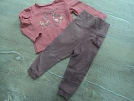 SK-16 Set zusammengestellt LA Shirt rosa mit 2 Lamas und Glitzer von S'OLIVER  -dünne Jogger in altrose LUPILU Gr. 74