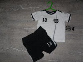 534 2 tlg. Set Deutschland Hose Shirt Gr. 74