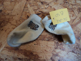 SK-242 New Born Socken in pastell gelb mit Elefant Gr. 11-14