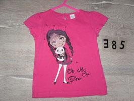 385 Shirt ppink mit Mädchen und Panda Gr. 86