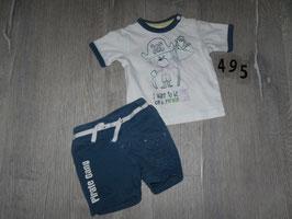 494 Sommerset Shirt weiß Pirat Shorts dunkelblau Gr. 68