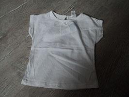 3020 Shirt weiß Uni hinten Knopf von BABYCLUB Gr. 80