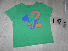 1475 Shirt grün mit Dino 2 von ESPRIT Gr. 12 Monate