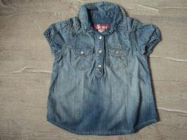 3153 Jeans Shirt mit Druckknöpfe von H&M Gr. 98