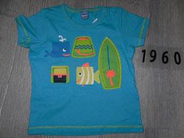 1960 Shirt türkis neon farben MEER vonn DOPODOPO Gr. 74