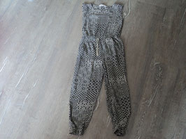 3248 Jumpsuit schwarz beige mit tollen Ornamente von H&M  Gr. 122