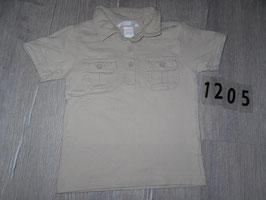 1205 Shirt beige mit Kragen von H&M Gr. 86