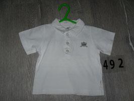 492 Polo Shirt weiß mit Krone von STUMMER Gr. 62