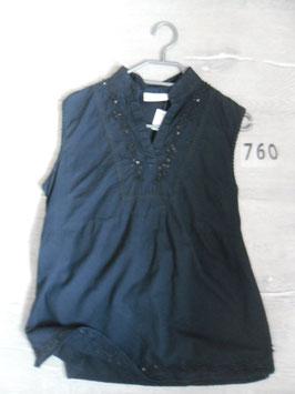 760 Umstandstunika schwarz mit Pailetten und Perlen von JESSICA Gr. 36/38