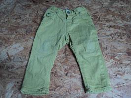 AL-35 Gelbe gefütterte Jeans -enger stellbar- von H&M Gr. 74