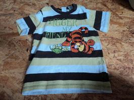 AL-196 Shirt mint/weiß/braun gestreift mit Tigger von H&M Gr. 86