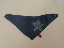 545 Handmade Wendedreieckstuch aus Jeans mit Sterne und Schneuzer