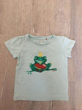 1835 Shirt pastell grün mit Froschkönig und Strasssteine von ESPRIT Gr. 92/98