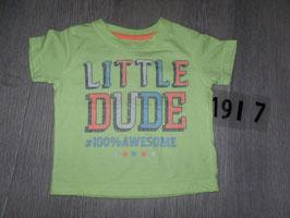 """1917 Shirt neongelb """"Little Dude"""" von Little Rebel Gr. 80"""