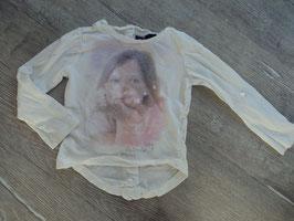 SS-13 LA Shirt weiß -Mädchen-Ärmel können hochgeknöpft werden -hinten Knopfleiste und länger geschnitten von MEXX Gr. 98/104