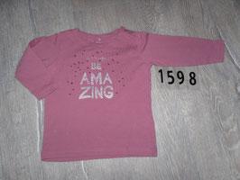 1598 LA Shirt  Be amazing Glitzer von NAME IT Gr .74