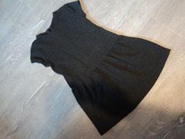3146 Schickes Kleid in dunkelgrau hinten Reißverschluß von ZARA Gr. 128