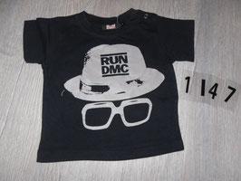 1147 Shirt schwarz RUN DMC von H&M Gr. 74