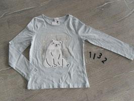 1132 LA Shirt hellblau mit Eisbär Gr. 128