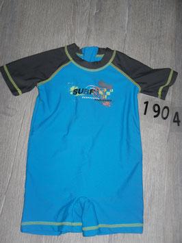 1904 UV Anzug Jungen blau grau Surf 97 von SEASONS Gr. 74/80