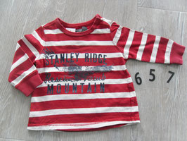 657 LA Shirt rot weiß gestreift  von H&M Gr. 74
