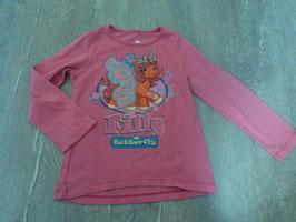 2486 LA Shirt rosa mit Fillykid Pferd Glitzer von FILLY Gr. 110/116