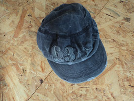 661 Kappe in einem stone washed dunkel grau- nicht verstellbar Gr. 128-140