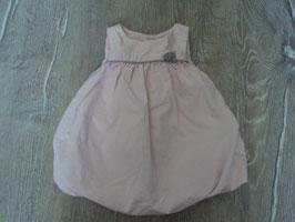 2292 Ballonkleid rosa mit grauer Schleife von OBAIBI Gr. 53