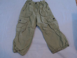 425 Shorts in mintgrün unten am Bein verstellbar -Seitentaschen von H&M Gr. 92