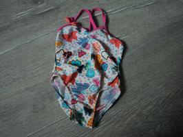2977 Badeanzug mit Blumen und Schmetterline von OXYLANE Gr. 18 Monate