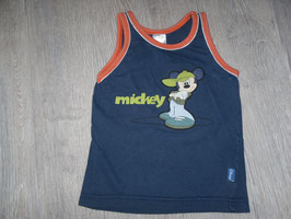 1151 Achselshirt blau mit Mickey Mouse Gr. 98/104