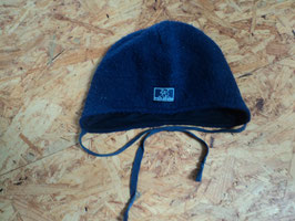 L-75 Wintermütze in dunkelblau 100% Schurwolle und Baumwolle innen von PICKAPOOH Gr. 46